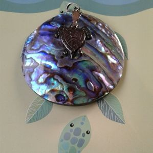Creature couture abalone shell pendant